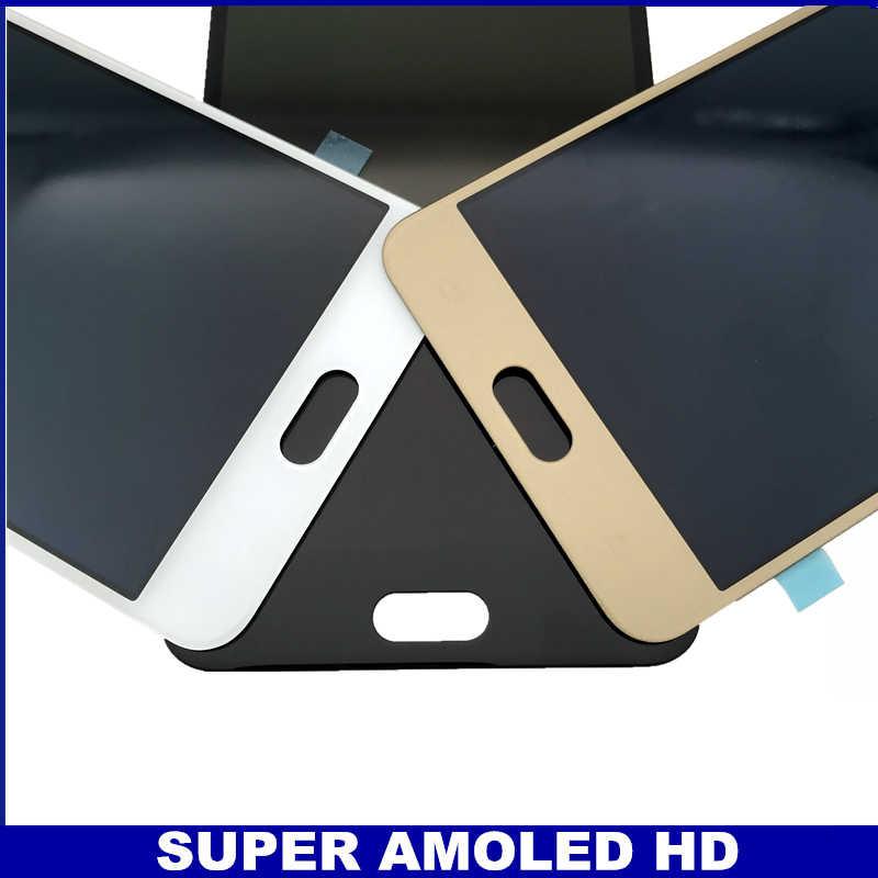 Zamiennik LCD do Samsung Galaxy C7 C7000 SM-C7000 Super AMOLED telefony monitorów LCD wyświetlacz z ekranem dotykowym pełny Digitizer zgromadzenia