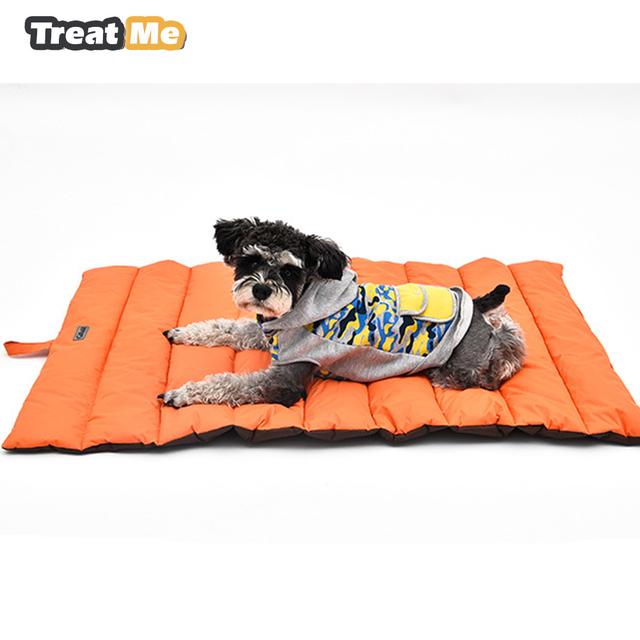 Outdoor Dog Mat Waterproof Pet Bed Portable House Soft Comfortable Beds For Large Dogs Not Sticky Hair Kennel