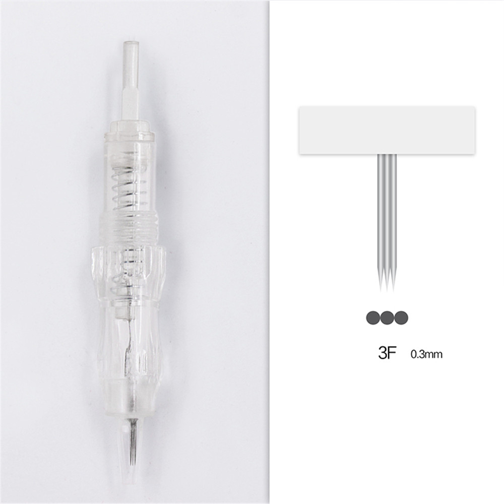 Image 2 - 100pcs Cartridge Needle 3F 4F 5F 7F Permanent Microblading Needle Disposable for Eyebrow lip Makeup Pen Machine Needles Tips-in Tattoo Needles from Beauty & Health