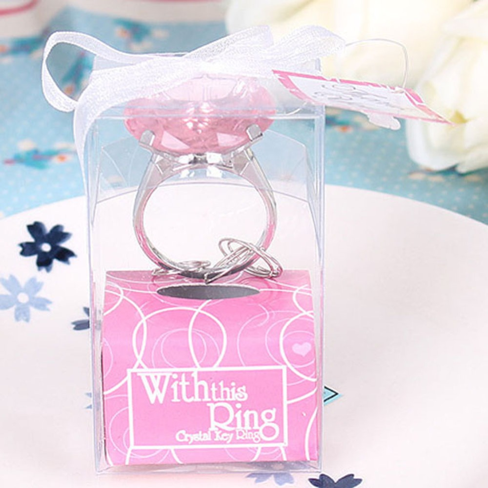 Party Favors Wedding Gifts Diamond Ring Shape Keychain Key ...