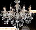 Cozy living room European-style luxury crystal  bedroom lamp crystal candle chandelier lamp American country, AC110-240V
