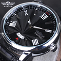 Winner Leather Mens Watches Top brand Luxury Casual Sports Mechanical Watch Men Clock Male Wristwatch Automatic Watch