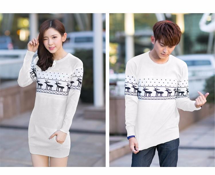 4661c6bd98 Couples Lovers Sweaters Christmas Cute Deer Hot Sale Men Women ...