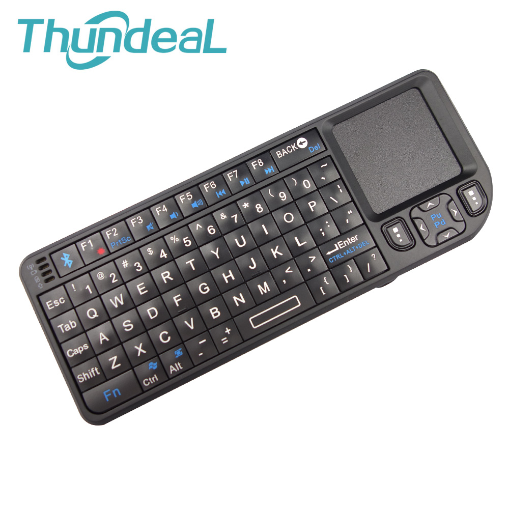 Mini Portable 2.4G Wireless Keyboard Air Mouse Handheld Touchpad gaming Keyboard for Smart Android Phone TV Box Built-in Battery ...