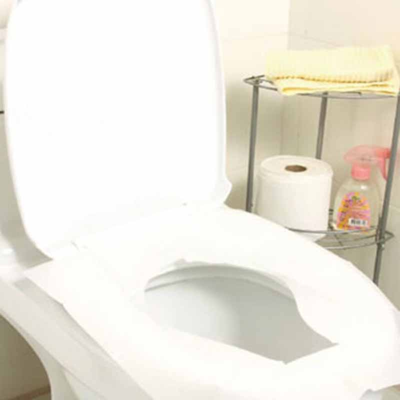 New Arrive 10Pcs/lot Travel Disposable Toilet Seat Cover Mat 100% Waterproof Toilet Paper Pad KT0086