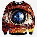 Hot sale Fashion sweatshirts 3d print machinery watch men/women's creative big eyes casual hoodies lovely pullover