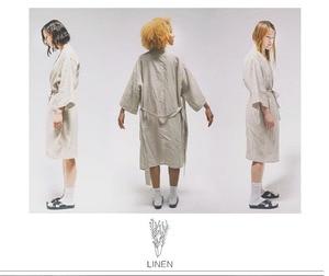 Image 4 - UNIKIWI.Women Sleepwear Robes Linen Pajamas.breathable Shower Spa Linen Robe Night Bathrobes Sleep Nightgown Robe Dressing Gown