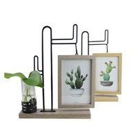 Multifunction Creative Pictures Frame Hydroponic Bottls Household Decor Photoes Frame Micro landscape Glass Vase Figurines