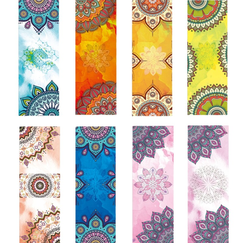 Beautiful Pattern Print New Yoga Towel Sweat Anti-skid Portable Gym Blanket Exercise Yoga Mat Towel Pilates Towel Yoga Mat Cover chastep natural pvc yoga mat anti slip sweat absorption 183 61cm 6mm yoga pad fitness gym pilates sports exercise pad yoga mats