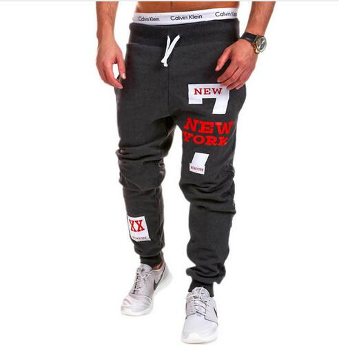 Hot nuevo llegado 2017 marca casual joggers impresión de la letra de compresión  Pantalones hombres algodón Pantalones Calabasas Pantalones de chándal para  ... c837d3b1c6fd3