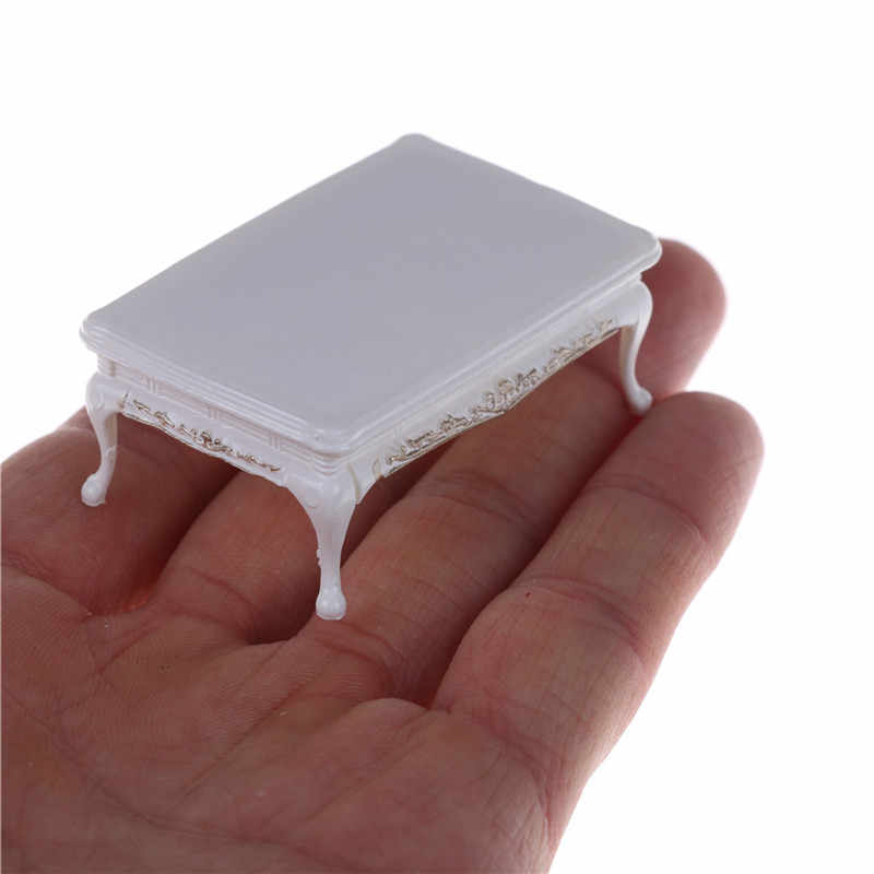 DIY Miniature Furniture coffee tea Dining Tables For Mini Doll House Miniatures Furniture Toys white Gifts For Children Adult