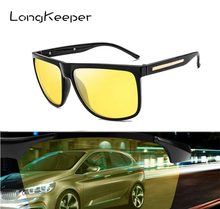 LongKeeper Night Vision Sunglasses Mens UV400 Polarized Glasses Fashion Women Anti-glare Driving Sun Gafes 1038