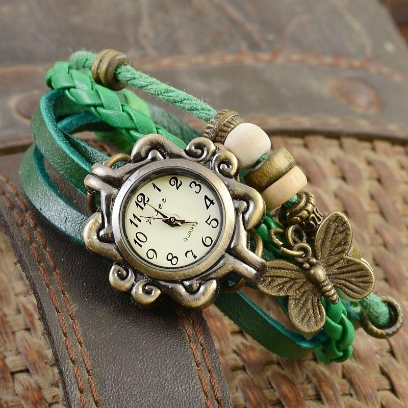 New Girl Women Fashion Butterfly Bracelet Wrap Watch Quartz ...