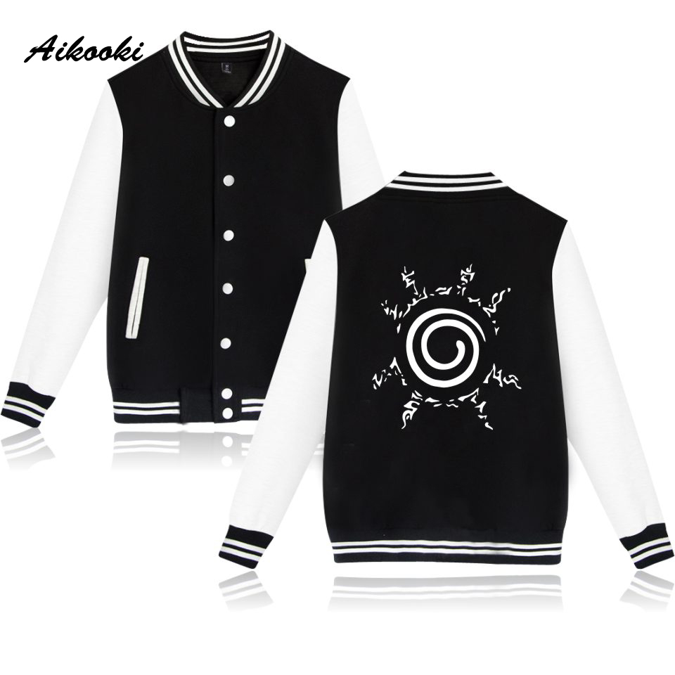 Uzumaki Naruto Baseball Jacket Men/Women Autumn Harajuku Sweatshirt Women/men College Uniform Tops Jacket Coat Men Jackets