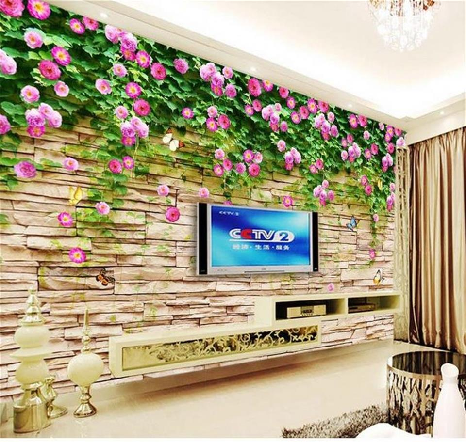 custom size mural photo 3d wallpaper living room rose culture stone 3d painting TV background non-woven wallpaper for wall 3d 3d wallpaper custom photo wallpaper non woven wallpaper spring come animal world tv backwall living room bedding room 3d murals