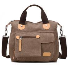 Купить с кэшбэком Retro Women's Girls' Canvas Handbag Casual Shoulder Bag Messenger Travel Bags