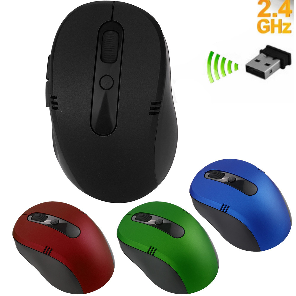 Wireless Mouse Cordless Optical Scroll 2.4GHZ Mouse PC Computer