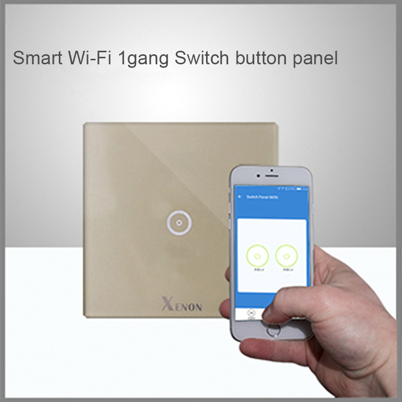 Manufacturer Xenon Wall Switch 110~240V Smart Wi-Fi Switch button Glass Panel 1-gang Ivory White EU Touch Light Switch panel free shipping lepin 16002 pirate ship metal beard s sea cow model building kits blocks bricks toys compatible with 70810