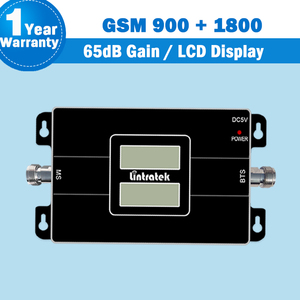 Image 2 - lintratek 2G GSM 900 +4G LTE 1800mhz (Band 3) Double LCD Displays Dual Band Signal Amplifier Lintratek Mobile Phone Repeater S46