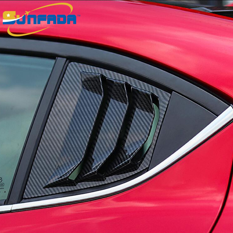 Sunfada Rear Triangle Window Spoiler Wing Trim Panel Car