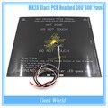 Alta Calidad 300*300*2mm PCB Climatizada MK2A Negro + LED + Resistencia + Cabel + 100 K ohm Termistores