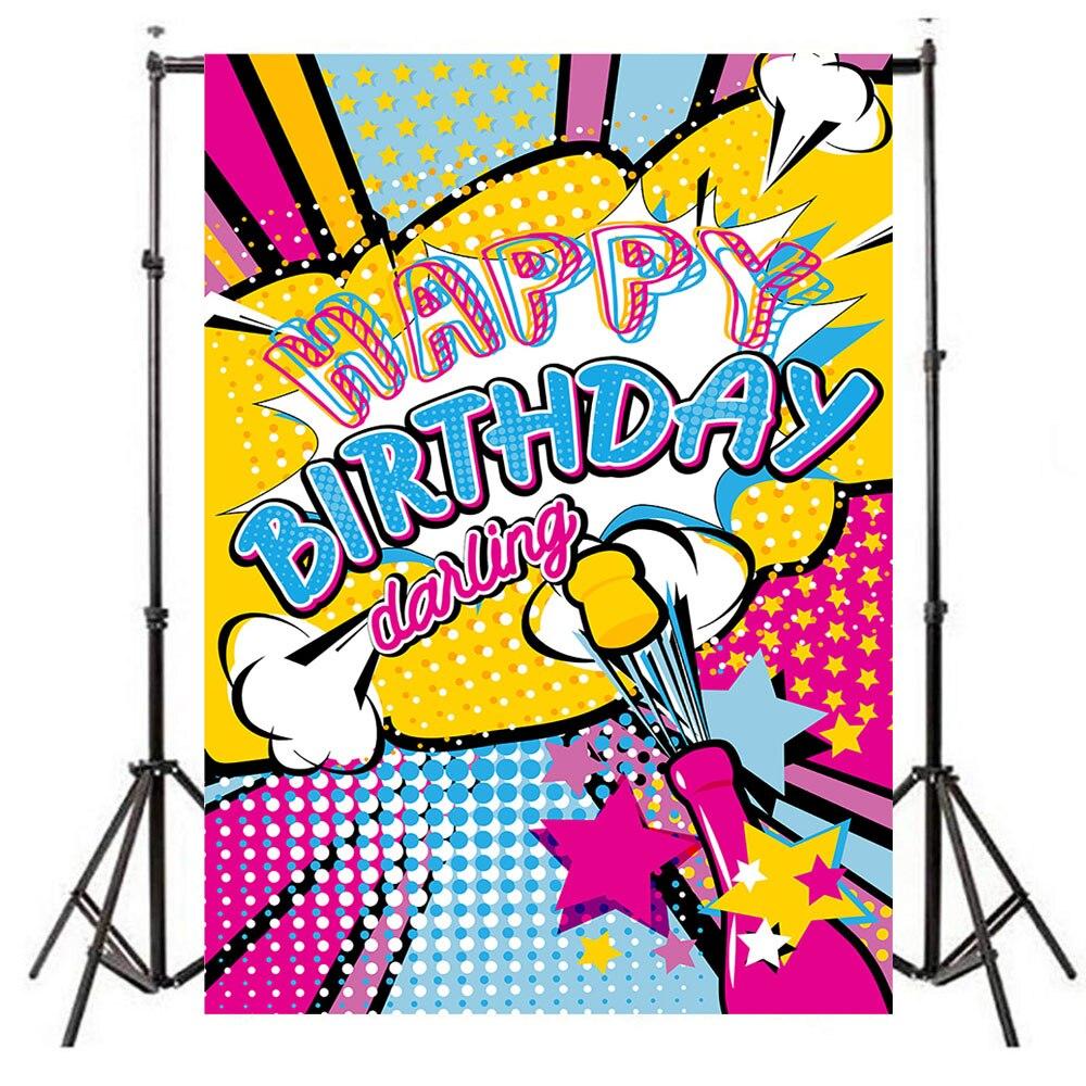 Neoback Graffiti Happy Birthday Backdrop Dance Beer Birthday Party Celebration Banner Photography Background Background Aliexpress