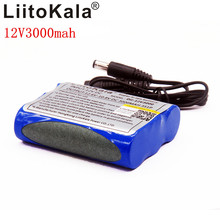 Liitokala 12V 3000mAh Lithium Battery 3 Series 1 Rechargeable Battery Protection Board Standby Monitor Power Supply