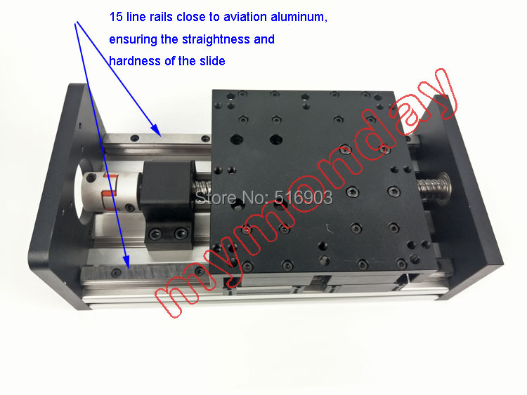 GX150 1605 Ballscrew 100 300mm Effective Travel Rail Linear Guide Moving Table Slide Module Motion Without