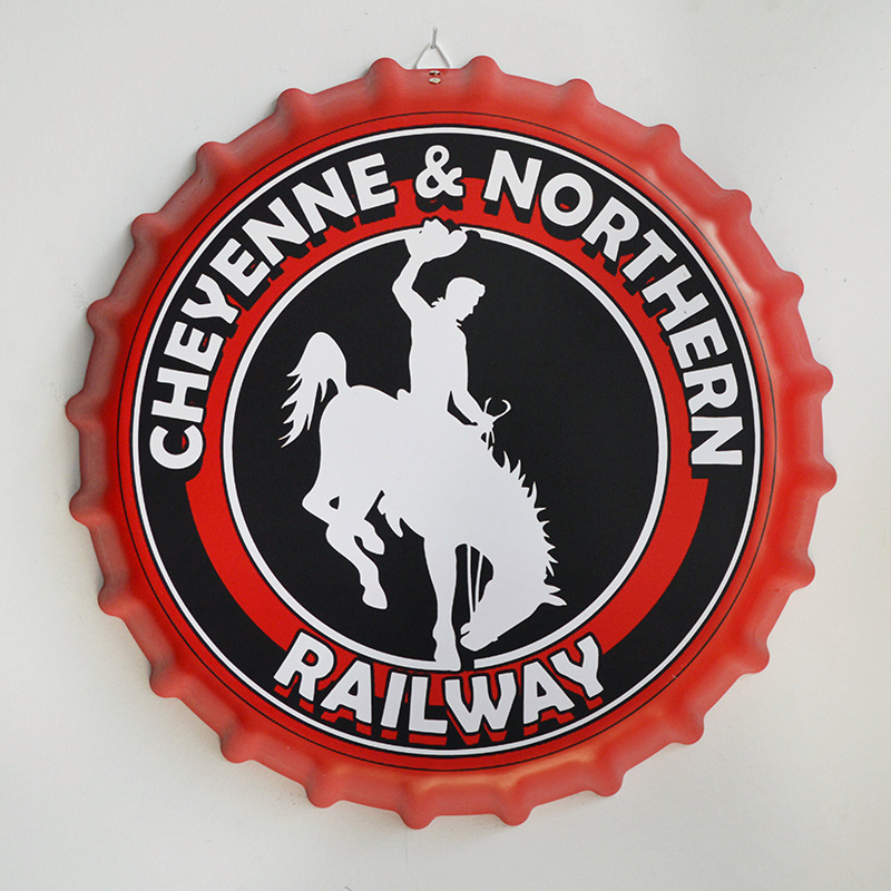 Tin Sign CHEYENNE & NORTHERN RAILWAY Vintage Metal Painting Beer Cover Cafe Bar Hanging Ornaments Wallpaper Decor Plates