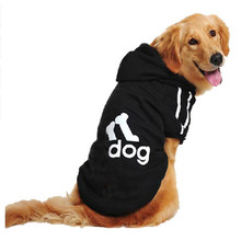 Medium Large Big Pets Dogs Clothes Adidog Sport Hoodie Warm Coat Winter Jacket Golden Retriever Costume Clothing for Dog DC65