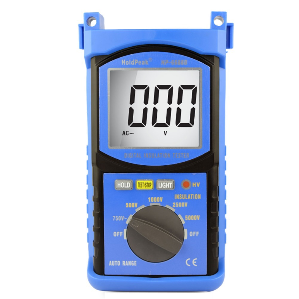 Resistance Meters HP-6688B New Arrival High Quality Digital 5000V Insulation Resistance Tester Insulated Portable Tester 5kV mastech ms5215 high voltage digital insulation resistance tester megometro megger 5000v 3ma temp 10 70c