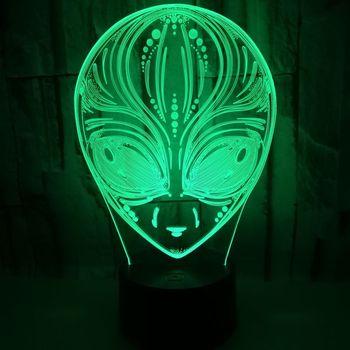 Ngoài Hành Tinh 3D Đèn Nhiều màu LED Cảm Ứng Hình Ảnh Chiếu Sáng Đèn Bàn Tặng Bầu Không Khí Tùy Biến Của 3D Nhỏ Để Bàn