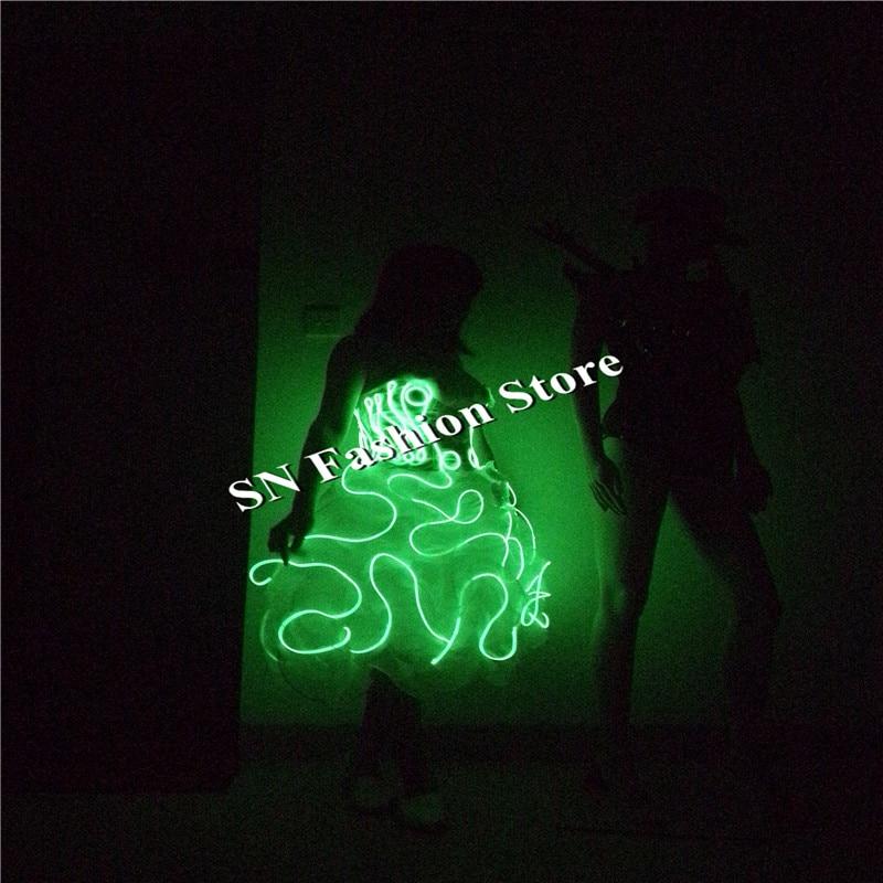 SN79 EL külma juhtmed kerged kostüümid muusika tantsusaal seksikas - Pühad ja peod - Foto 5