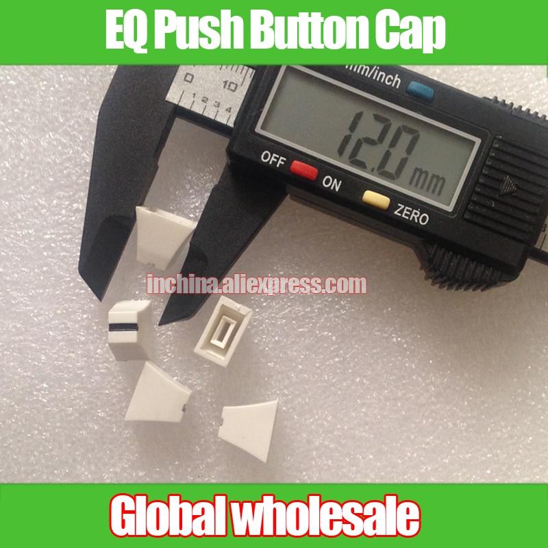 Sincere 10pcs 12 10 6.5mm Hole 4mm Eq Equalizer Mixer Fader Knob Cap White Straight Slip Potentiometer Push Button