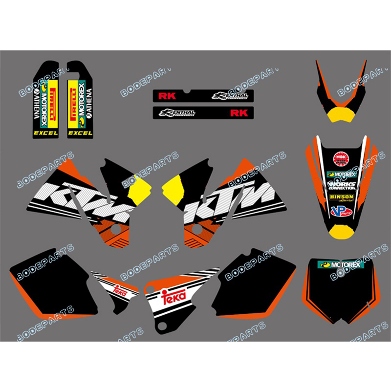 Rb Logo Motor Dirt Bike SX Graphics Decals Sticker FOR Motorcycle KTM SX MXC 125/250/380 /400/520 1998 1999 2000 2001