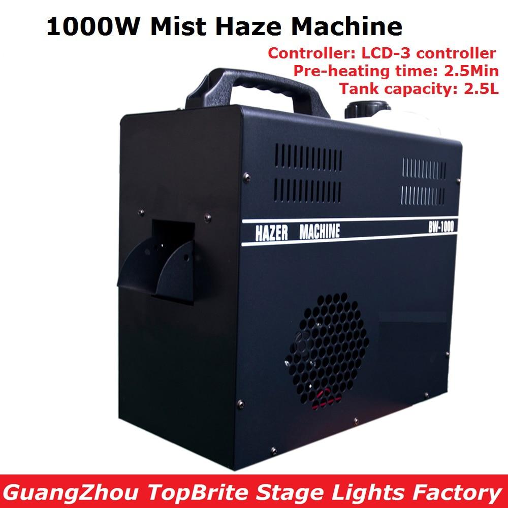 1000W Mist Haze Machine 2.5L Tank Capacity Fog Machine With DMX512 Control DJ/Party/KTV/Disco Lights Led Stage Machine Fogger жидкость для генераторов эффектов синтез аудио disco fog haze oil 1