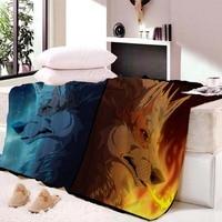 Wolf Blanket Beach Towel Bath Towel Super Soft Velvet Plush Throw Blanket Custom Blanket Air Conditioner Quilt Plaid Anime