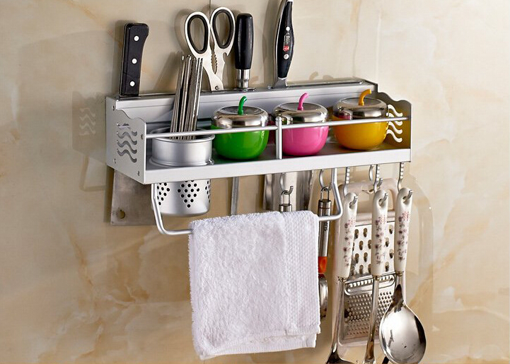 Charmant 1PC Space Aluminium Kitchen Shelf, Kitchen Rack Cooking Utensil Tools Hook Rack  Kitchen Holder U0026 Storage KF 2002 In Storage Holders U0026 Racks From Home ...