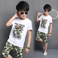 All Match Boys Summer Suit Camouflage Two Piece Goods High Quality Clothing Children's Clothes Kids