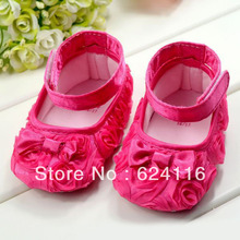 BX01 6pairs/lot Top Gift 3D Rose Flower Princess Bow Newborn Baby First  Walker Shoe Toddler Baby Shoes Girls Infant
