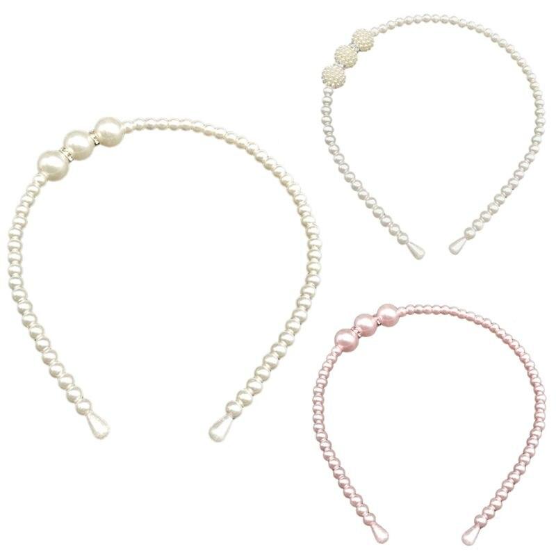 Zuversichtlich 1 Pc Damen Kind Süße Candy Farbe Perlen Stirnband Drei Big Imitation Perle Ball Prinzessin Hochzeit Kleid Haar Hoop Gesundheit Effektiv StäRken