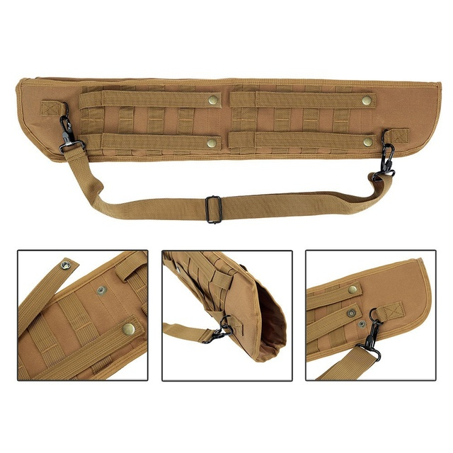 Tactical Hunting Multi-function Rifle Scabbard Backpack Holster Shoulder Sling Case Molle Bag Archery Quiver Arrow Case