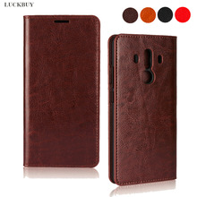 Classic Business Crazy Horse Pattern Genuine Leather Flip Case For Huawei Mate 7 9 10 20 S Lite Pro Book for Mate20X