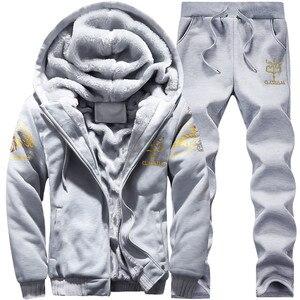Image 3 - Mens large size M 9XL New Mens  Sets Autumn Sports Suit Sweatshirt + Track Pants Clothing For Men 2 pieces Sets Slim Outerwear