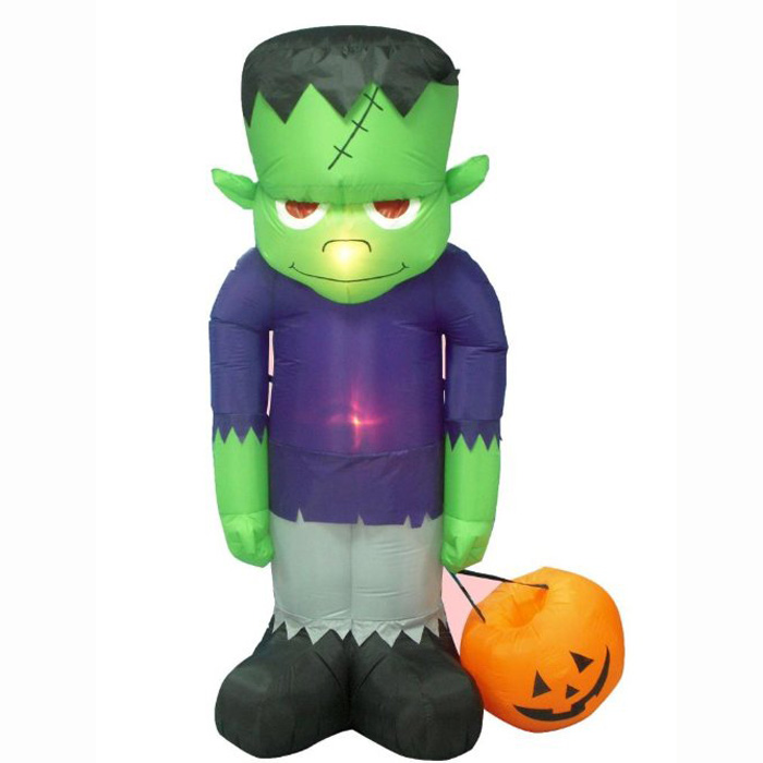 3m huge commercial inflatable halloween frankenstein decoration with led lights for partychina