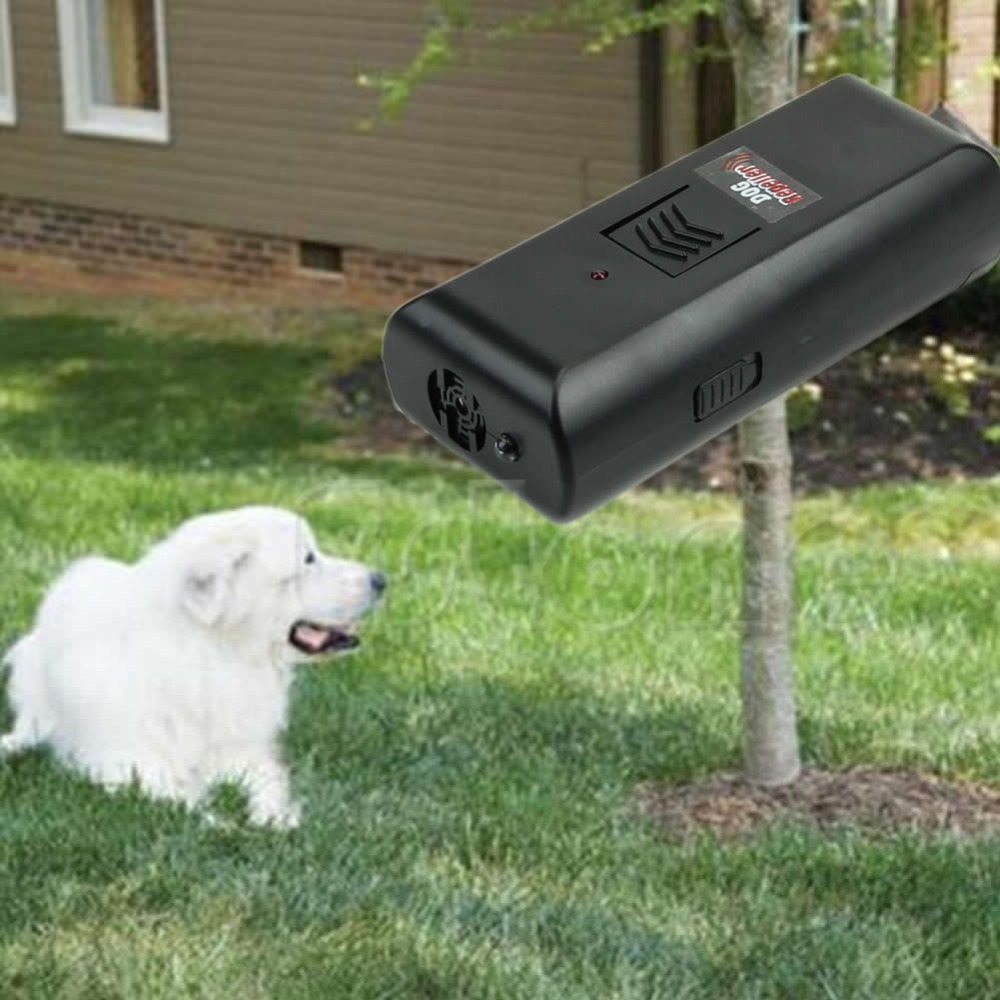 New 1PC Ultrasonic Aggressive Dog Pet Repeller Anti-Bark Barking Stopper Deterrent Train ...