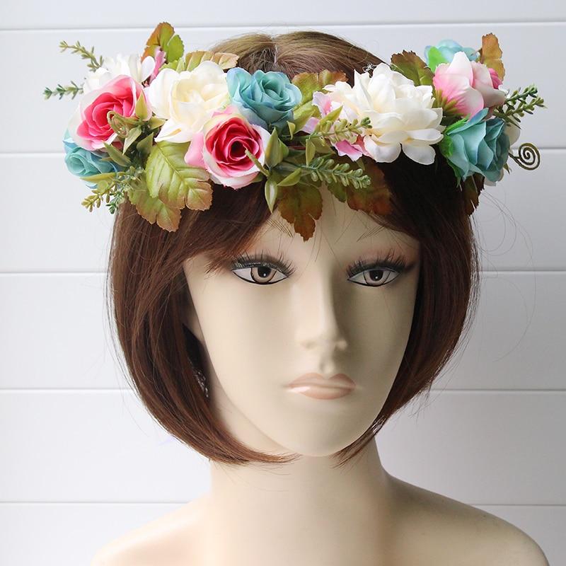 simulation penny flower wreath headband women Rattan simulation - Apparel Accessories - Photo 4