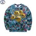 Mr.1991 juventud moda delgado Del resorte del Otoño sudaderas niños niñas niños grandes adolescentes sportswear 3D de Dibujos Animados impreso hoodies boy basculador W1
