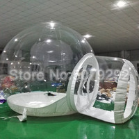 Transparent Inflatable Lawn Tent Good Quality 3M/4M/5M Dia Inflatable Igloo Tent On Sale Fashion Bubble Hotel With Blower