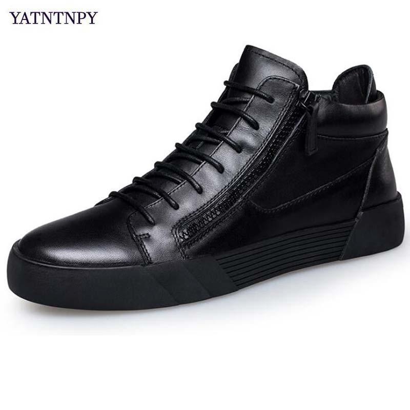 Occasionnels forme Mocassins Pantalon Noir Hommes Plate Yatntnpy With Black black Grande Chaussures Baskets Plus Homme Cuir Fur Plates Sapatos En Taille 6A6qXfWn4